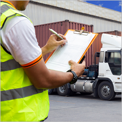 Freight,Transportation.,Warehouse,Worker,Are,Holding,Clipboard,With,Control,Loading