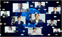 Global,Communication,Network,Concept.,Video,Conference.,Telemeeting.,Flash,News.